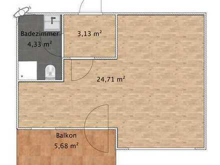 Exklusive, geräumige 1-Zimmer-Wohnung in Wiesbaden