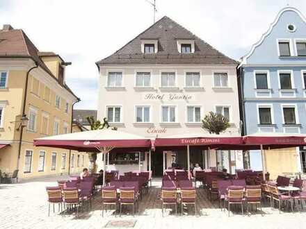 Lukratives Hotel Garni mit Eisdiele im Zentrum von Günzburg zu verkaufen! *** PROVISIONSFREI ***
