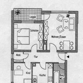 Schöne drei Zimmer Wohnung in Frankfurt am Main, Nieder-Eschbach
