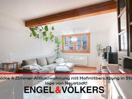 Schicke 4-Zimmer-Altbauwohnung mit Hofmitbenutzung in Stadtlage von Neustadt!
