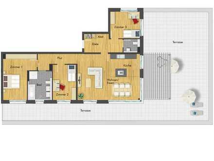 Herausragende 4-Zimmer Penthousewohnung mit großzügiger Balkonfläche