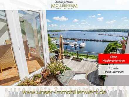 Neuer Preis! Besonderes Einfamilienhaus mit atemberaubendem Hafenblick