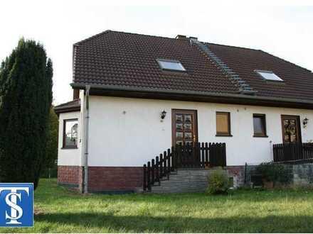 vermietetes Einfamilienhaus / Doppelhaushälfte (Fertigteilhaus) mit Garage in Plauen