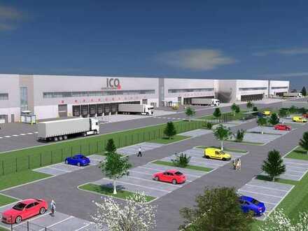Neubau Logistikimmobilie. Hallenflächen zwischen 2.300 m² und 40.000 m² verfügbar