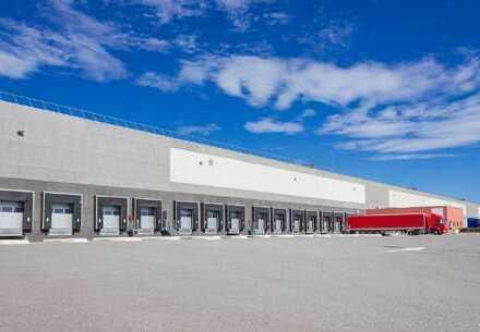 PROVISIONSFREI: ca. 25.000 qm Neubau Logistik | Rampe + ebenerdig | ca. 10,50 m UKB !