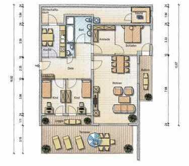Moderne Traumterrassenwohnung in weiß mit Fernblick