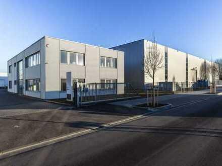 Repräsentatives Firmengelände mit modernem Hallen- und Bürokomplex