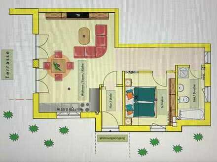 Sehr schöne 2-Zimmerwohnung mit Terrasse in Wörth OT Schaidt von Privat zu vermieten!