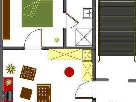 Frisch modernisierte 2 Zimmer Single Wohnung zu vermieten!