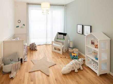 Helle geräumige 4-Zimmer-Familienwohnung mit 2 Bädern und sonniger Terrasse im Erdgeschoss