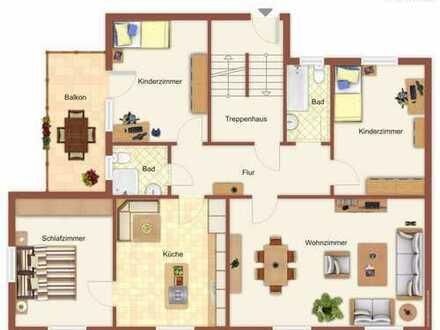 Erstbezug nach Sanierung! 4 Zimmer Wohnung im Zentrum von Selb
