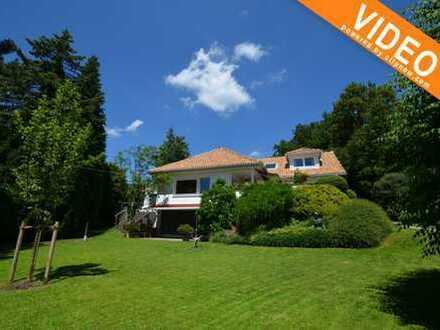 Luxuriöse möblierte Villa in Starnberg-Söcking, Fernblick , Schwimmbad und Sauna bis August 2019