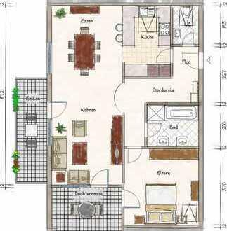 Für Kapitalanleger - gut vermietete kompakte Dachgeschosswohnung mit Balkon und Dachterrasse