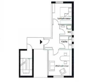 Gepflegte 2-Zimmer Souterrain Wohnung in Walldorf