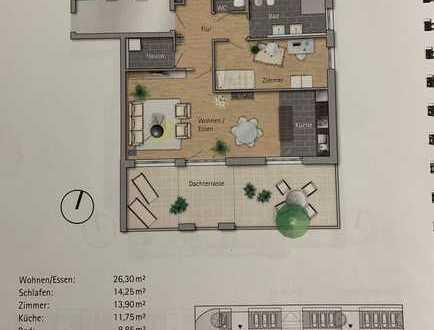 Penthousewohnung mit großer Dachterrasse in Heddesheim