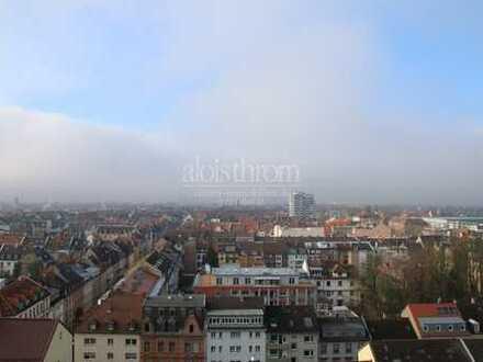 Moderne, helle Stadtwohnung im 12.OG mit toller Aussicht auf die Stadt
