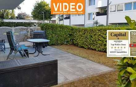 Bestlage Bonn-Ippendorf: Schicke 2-Zimmerwohnung mit Terrasse und eigenem Gartenteil