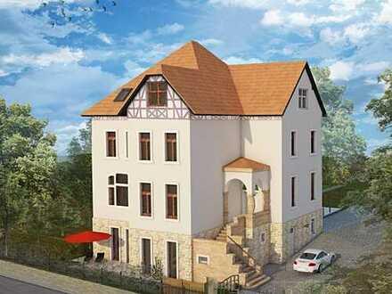 Absolute Rarität: Charmante 3,5-Raumwohnung auf zwei Etagen in historischer Denkmalvilla!