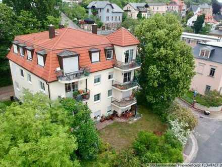 Radebeuler-Bestlage! Großzügige 2-Zimmer-Wohnung mit zwei Terrassen