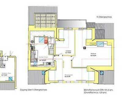 3-Zimmer-Loft-Wohnung, auch als Bürotrakt nutzbar