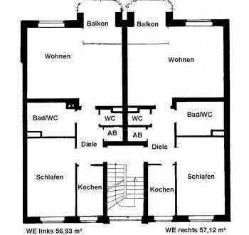 **frisch renovierte 2 Zimmer Wohnung mit Balkon in guter Lage von Duisburg - Rumeln-Kaldenhausen**