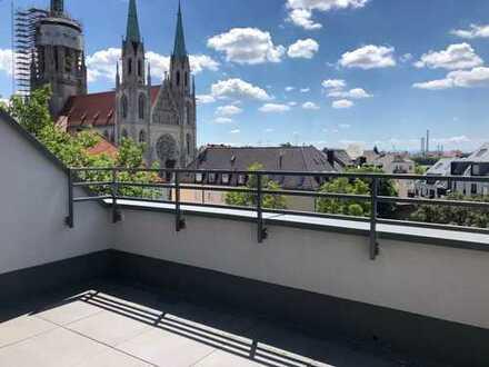 Dachterrassenwohnung (138qm Nutzfläche) mit Alpenblick