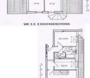 schöne 5 Zimmer Dachgeschoss Maisonettewohnung mit Fussbodenheizung 2 Bäder und Dachterrasse