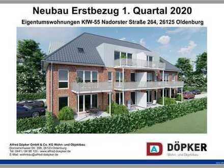Döpker-Neubau Eigentumswohnung auf Hintergrundstück Oldenburg-Nardost