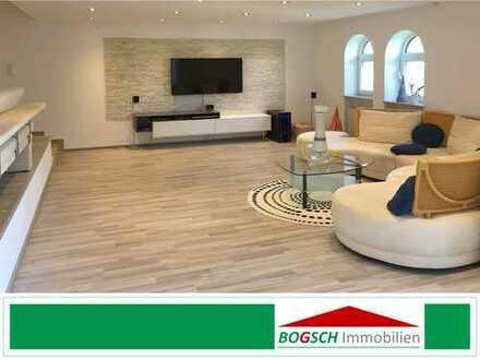 BOGSCH Immobilien – 4-Zi.-Whg. ca. 130m² mit Balkon + Garage + Stpl.; modern und hochwertig saniert