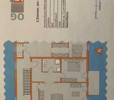 Erstbezug mit EBK und Balkon: stilvolle 2-Zimmer-Wohnung in Kleinberghofen