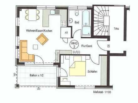 Erstbezug: Stilvolle 2-Zimmer-Wohnung in der Reutlinger Innenstadt