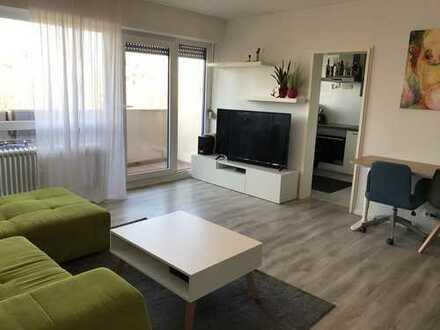 Modernisierte, geräumige 1-Zimmer-Wohnung mit Balkon und EBK in Ettlingen