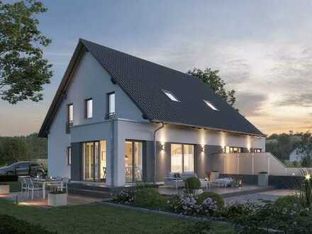 Neubau Doppelhaus in Waggum: Sparen durch Eigenleistung? Bei Massa geht das!