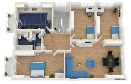 Provisionsfrei! 4 Zimmer Wohnung mit 2 Balkonen