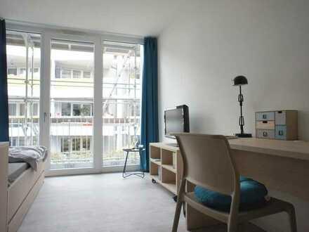 Möblierte 1-Zimmer-Apartments im Zentrum der Stadt