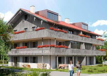 Mit Süd-und Westgarten: NEUBAU-Terrassenwohnung in sonniger, ruhiger Höhenlage