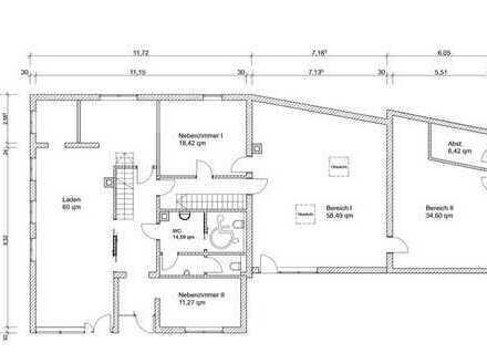 Laden - Café - Praxis - Büro - Werkstatt - Lager oder Loft im Herzen von Dietenheim (variabel 40 - 2