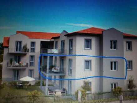 Erstbezug: freundliche 3-Zimmer-Wohnung mit EBK und Balkon in Maikammer