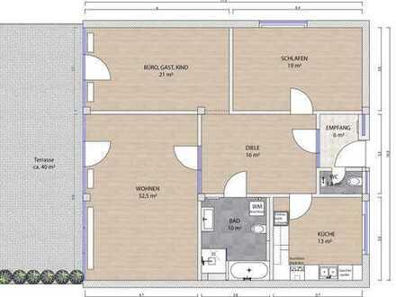 KÖLN-Müngersdorf/Ehrenfeld: Großzügige renovierte 3 Zimmerwohnung im Erdgeschoss mit großer Terrasse