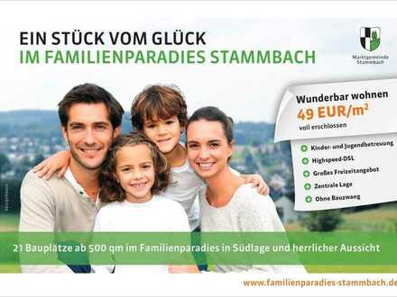 21 Bauplätze im Familienparadies Stammbach 49,00 Euro/m² - voll erschlossen