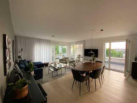 Beinahe neue 4-Zimmer-Penthouse-Wohnung mit Balkon und EBK in Weissach im Tal