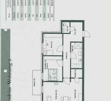 3-Zimmer Wohnung in einem modernen 9 Familienhaus mit gehobener Ausstattung