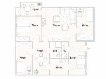 renoviert & großzügig - 5,5-Zimmerwohnung mit sehr guter Verkehrsanbindung