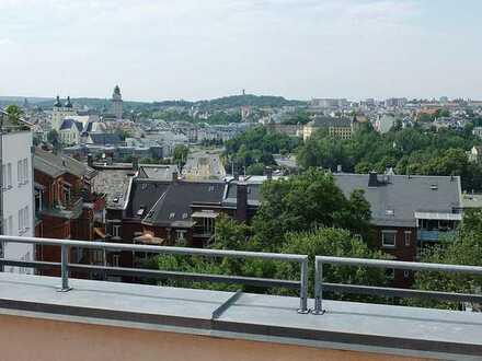 Extravagante Maisonette-Wohnung mit riesiger Terrasse und traumhaftem Blick über Plauen