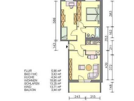 Drei-Raum-Wohnung mit Balkon in Waren (Müritz)