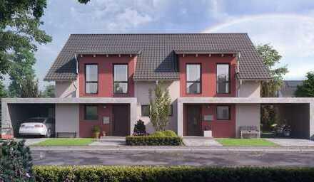 KfW 55 Doppelhaushälfte / Grundstück ist vorhanden