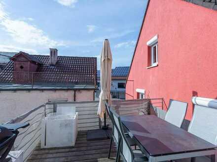 WOHNEN AN DER STADTMAUER! Tolle 1-Zi.-Singlewohnung mit Dachterrasse in Markdorf