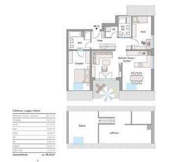 Neubau in Göggingen - exkl. 3 Zi-Galerie-Whg., mit 2. Bad, in Südausrichtung! großer TG-Stellplatz!