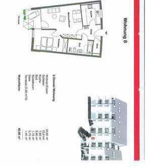 Neuwertige 2-Zimmer-Wohnung mit Balkon und Einbauküche in Pfullendorf