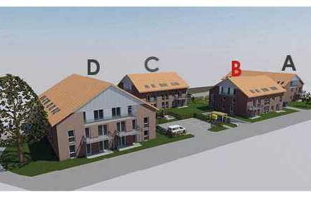 Große 4-Zimmer Eigentumswohnung, südlage, im Obergeschoss mit Balkon, Neubau / KfW-55